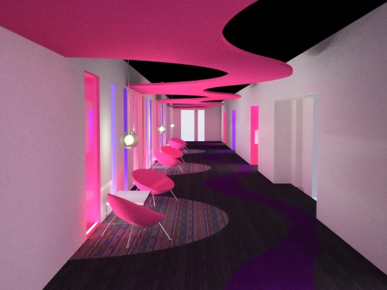 Diseño incial pasillos hotel